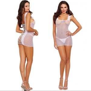 Dreamgirl Heart Shaped Stretch Fishnet Chemise💕